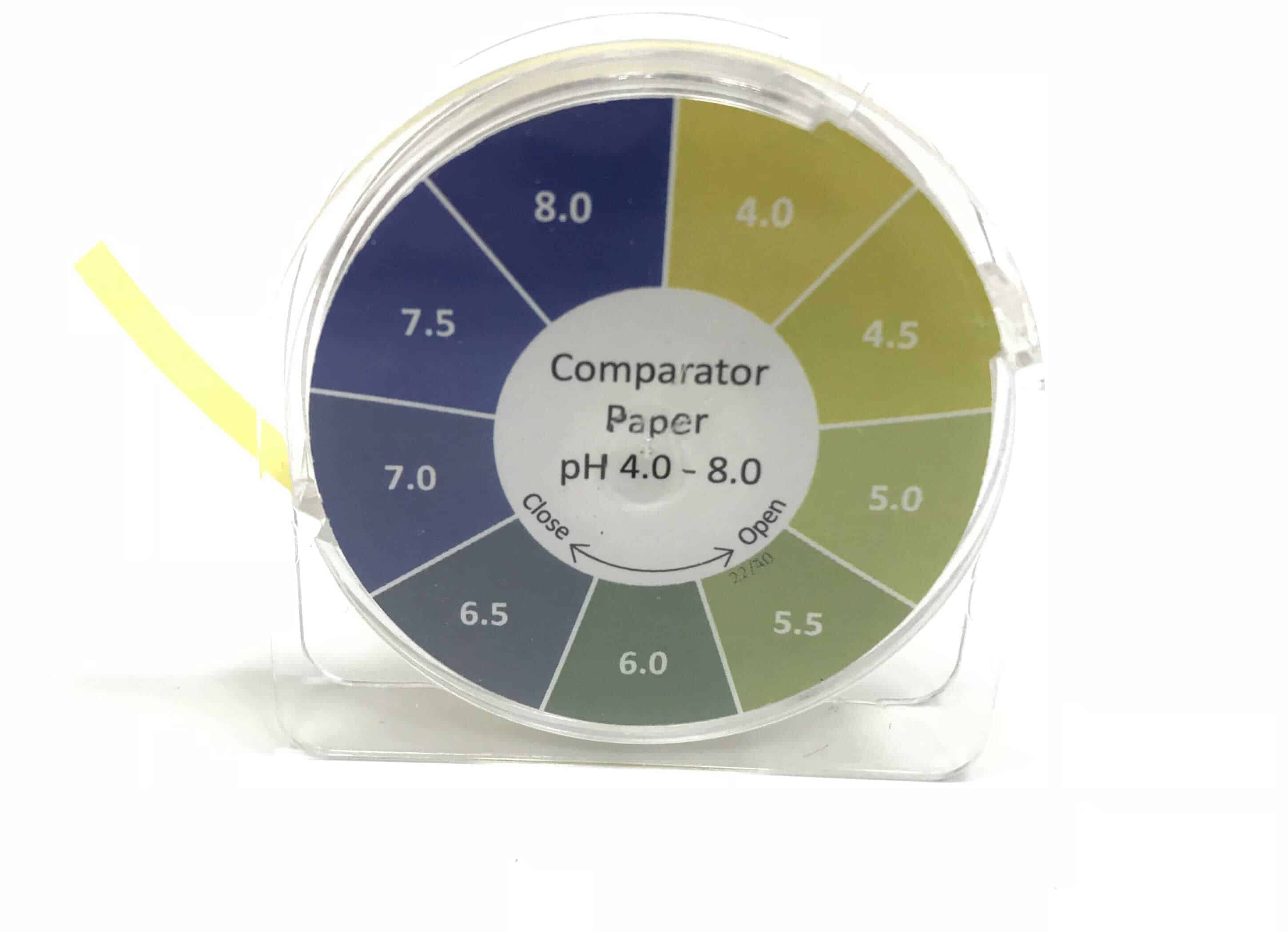 Comparator Paper pH 4.0 - 8.0, 5M Reel
